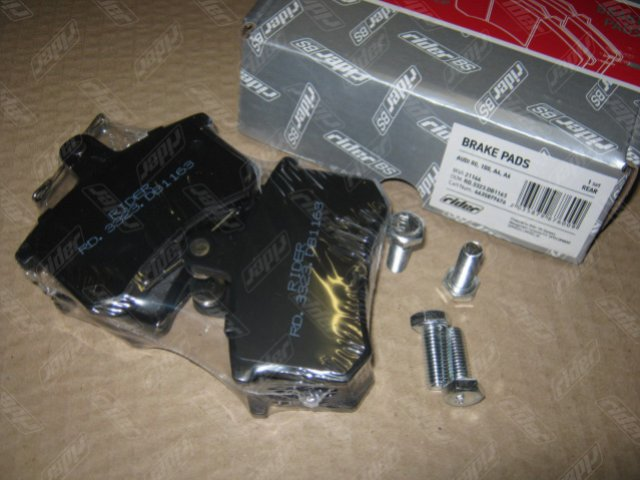 Колодка торм. диск. AUDI 80, 100, A4, A6 задн. (RIDER)