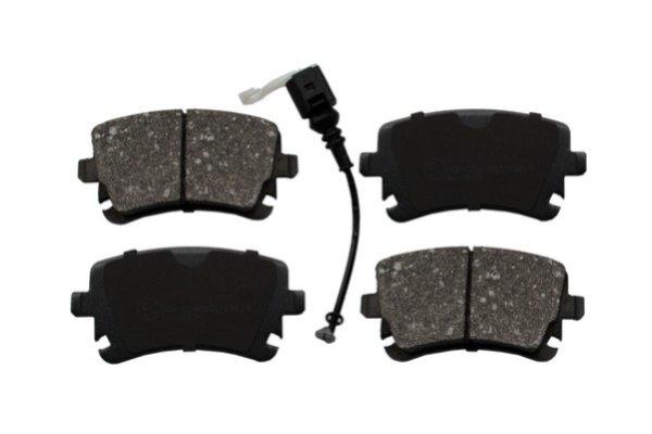 Гальмівні колодки дискові зад. (з датчиком) Audi A4, A6 2.0TDI-6.75V8R 08.99- VW Т5