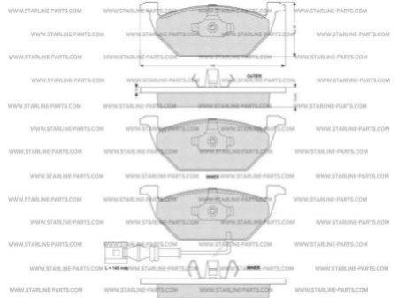 Комплект тормозных колодок, дисковый тормоз STARLINE BD S003S
