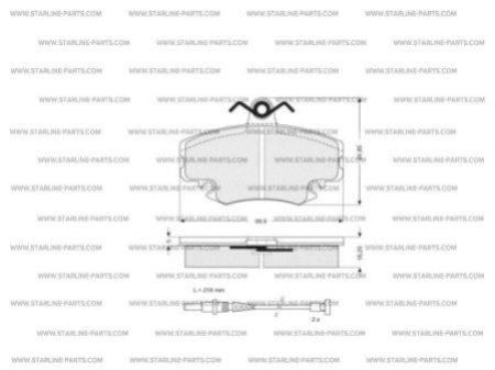 Комплект тормозных колодок, дисковый тормоз STARLINE BD S025, STARLINE, BD S025