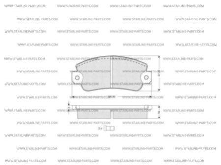 Комплект тормозных колодок, дисковый тормоз STARLINE BD S026
