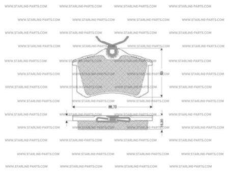 Комплект тормозных колодок, дисковый тормоз STARLINE BD S030, STARLINE, BD S030