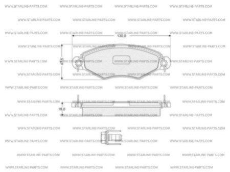 Комплект тормозных колодок, дисковый тормоз STARLINE BD S060