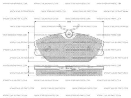 Комплект тормозных колодок, дисковый тормоз STARLINE BD S084, STARLINE, BD S084