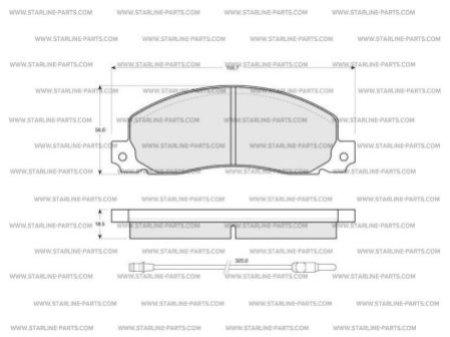Комплект тормозных колодок, дисковый тормоз STARLINE BD S146, STARLINE, BD S146