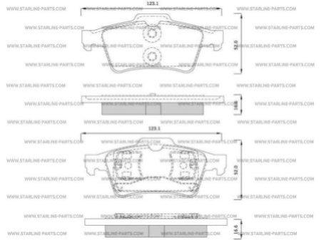 Комплект тормозных колодок, дисковый тормоз STARLINE BD S253, STARLINE, BD S253