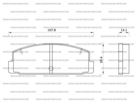 Комплект тормозных колодок, дисковый тормоз STARLINE BD S262, STARLINE, BD S262