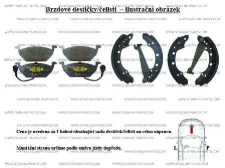 Комплект тормозных колодок, дисковый тормоз STARLINE BD S345