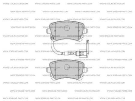 Комплект тормозных колодок, дисковый тормоз STARLINE BD S355, STARLINE, BD S355