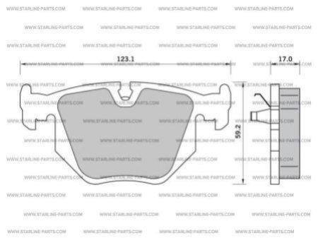 Комплект тормозных колодок, дисковый тормоз STARLINE BD S363, STARLINE, BD S363