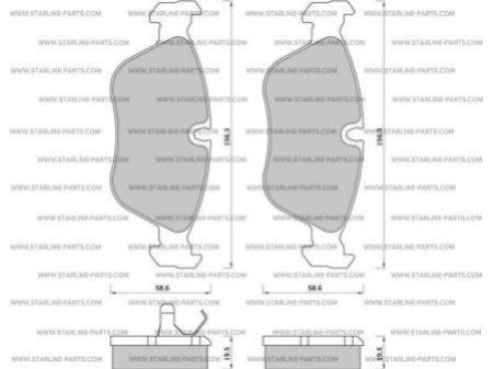 Комплект тормозных колодок, дисковый тормоз STARLINE BD S391, STARLINE, BD S391