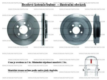 Тормозной диск STARLINE PB 2724, STARLINE, PB 2724