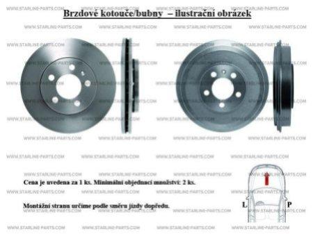 Тормозной диск STARLINE PB 3244, STARLINE, PB 3244