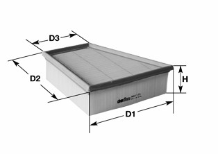 Воздушный фильтр CLEAN FILTERS MA3062