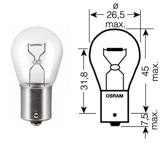 Лампа накаливания, фонарь указателя поворота; Лампа накаливания, основная фара; Лампа накаливания, фонарь сигнала тормож./ задний габ. огонь; Лампа накаливания, фонарь сигнала торможения; Лампа накаливания, фонарь освещения номерного знака; Лампа накалива