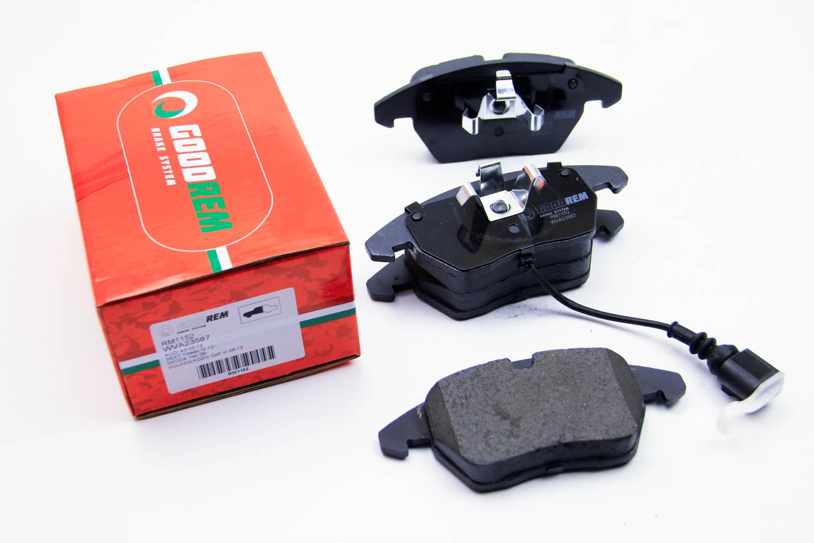 Тормозные колодки перед. Caddy III/Golf V/Passat B6/Octavia A5