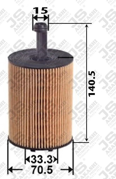 Фильтр маслянный D70.5 d15 h140.5