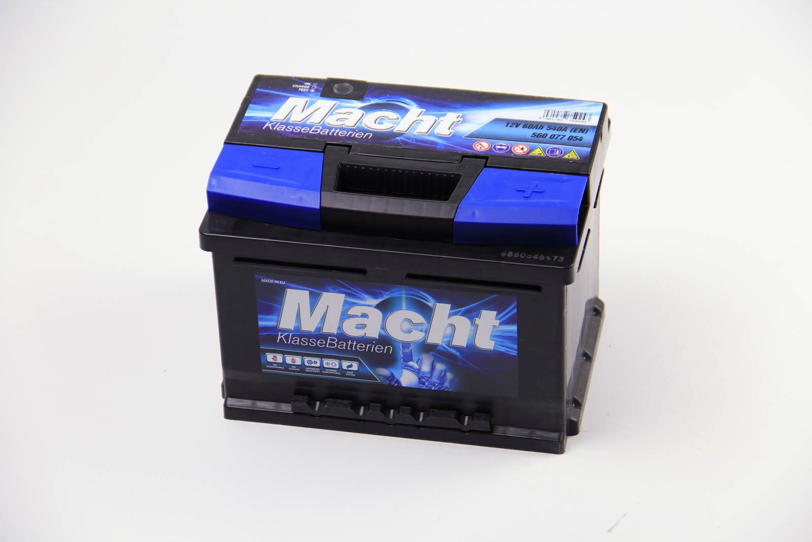 MACHT, 25344, Аккумулятор Macht 60Ah/540A