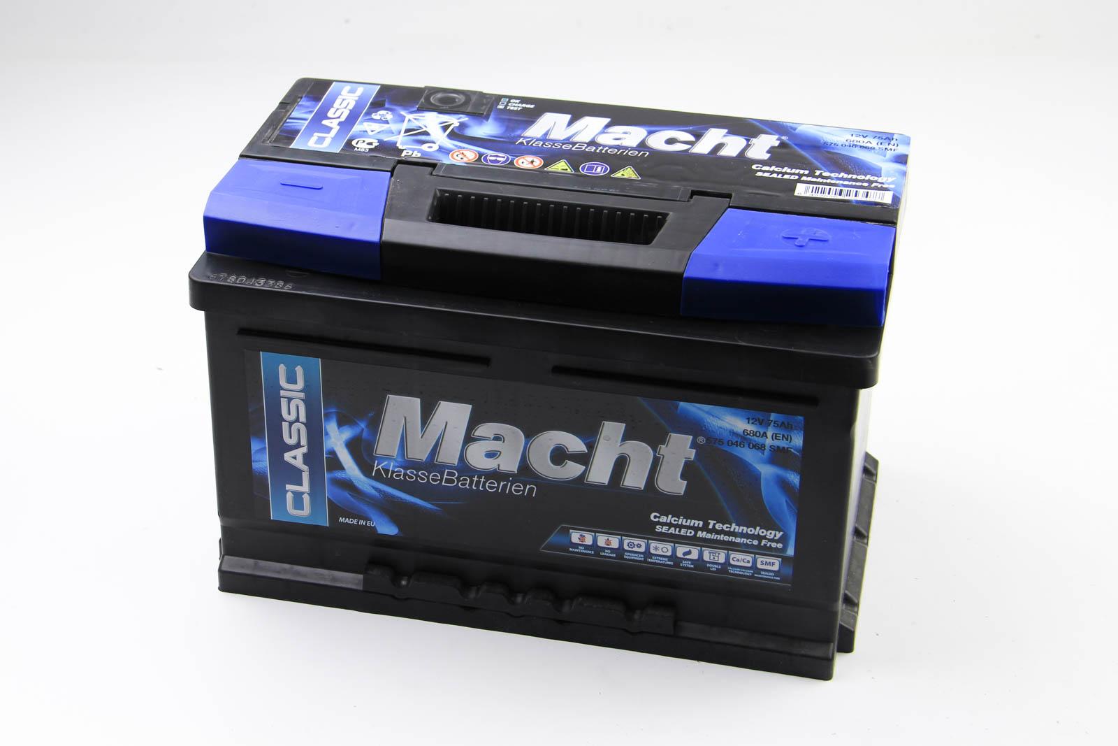 Аккумулятор Macht 75Ah/680A