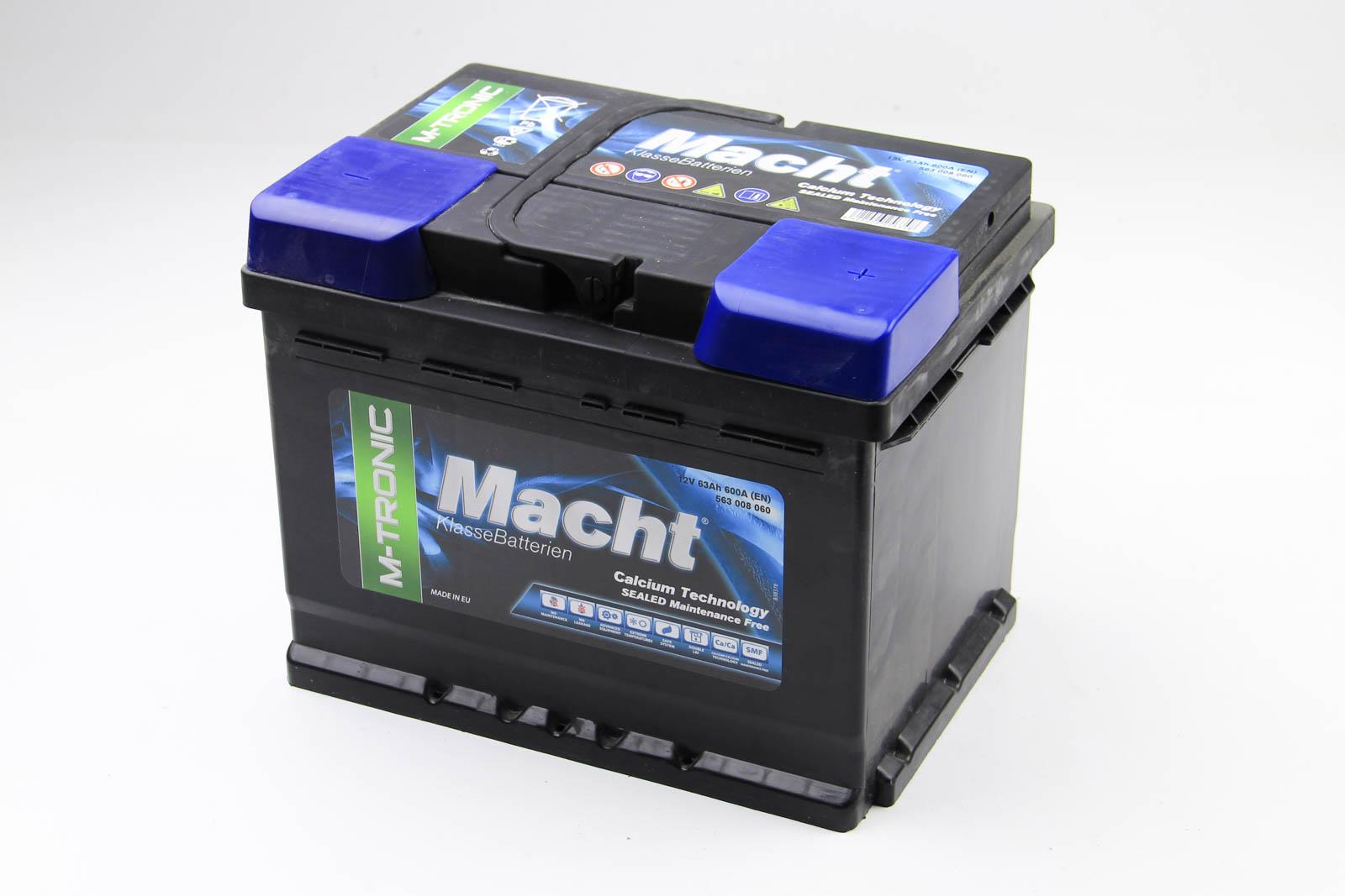 Аккумулятор Macht M-tronic 63Ah/600A