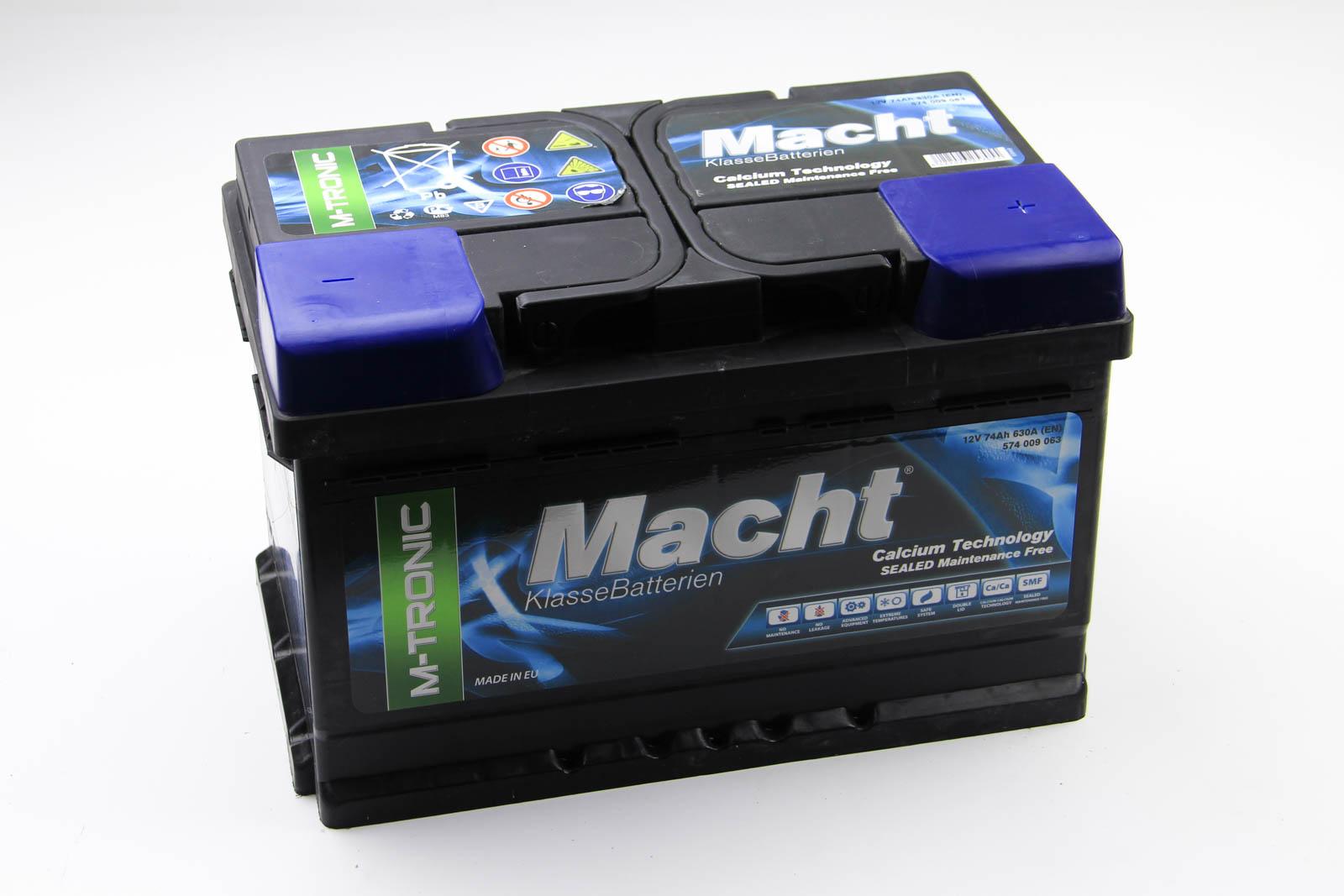 MACHT, 25705, Аккумулятор Macht M-tronic 74Ah/630A