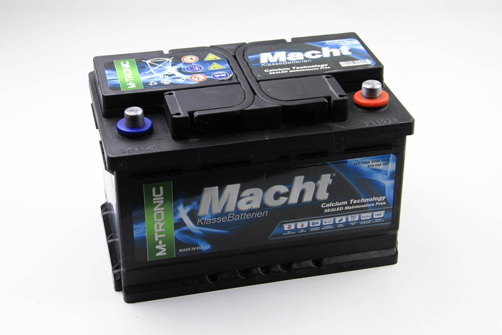 Аккумулятор Macht M-tronic 74Ah/630A