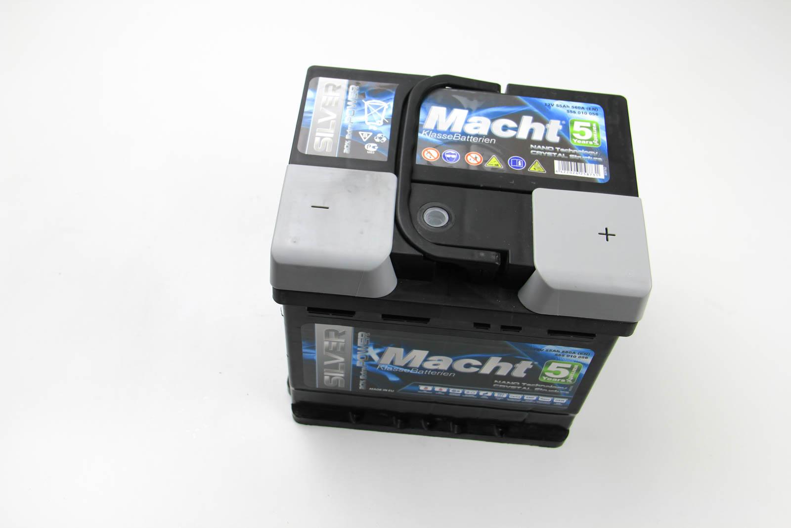 Аккумулятор Macht Silver Power 55Ah/560A 207x175x190
