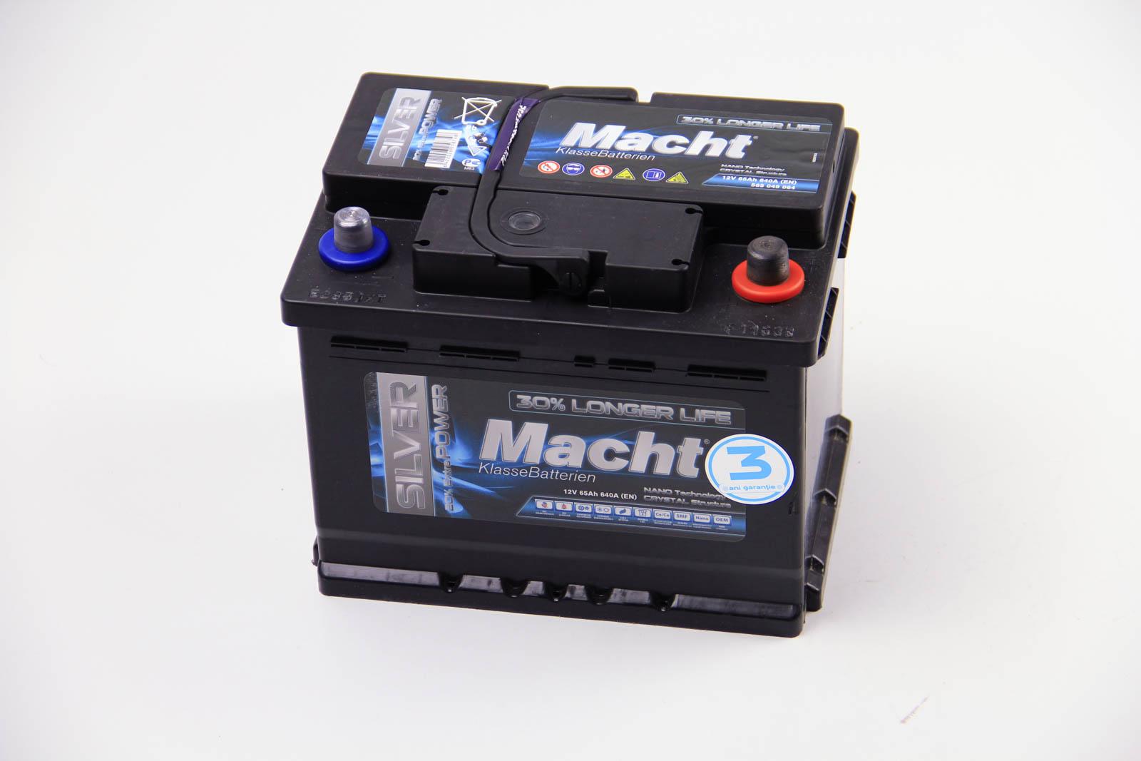 MACHT, 25874, Аккумулятор Macht Silver Power 65Ah/640A