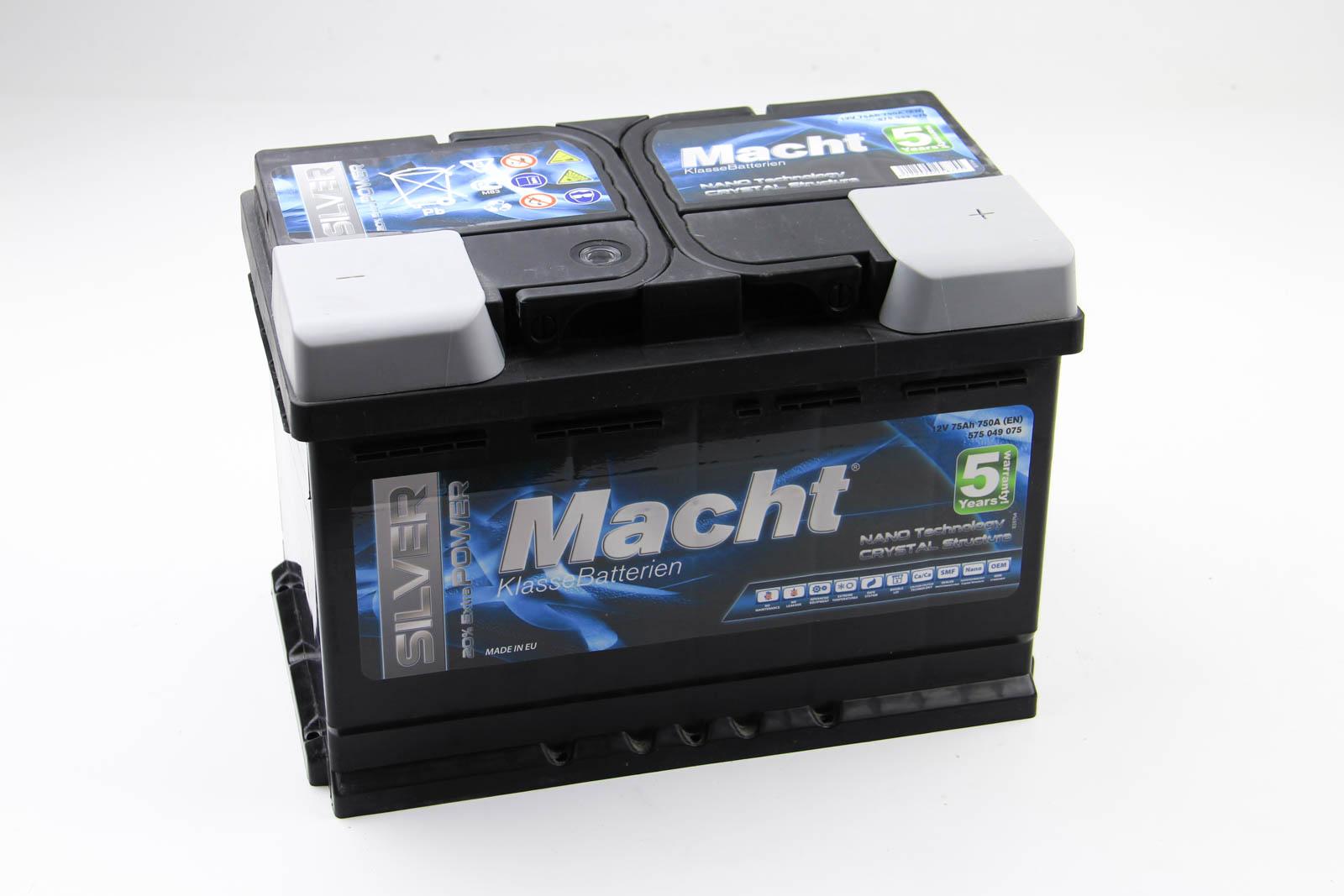 Аккумулятор Macht Silver Power 75Ah/750A