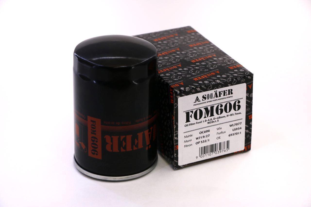 Фильтр масляный Ford 1.0-4.0, D=68mm, H=123mm, 3/4'