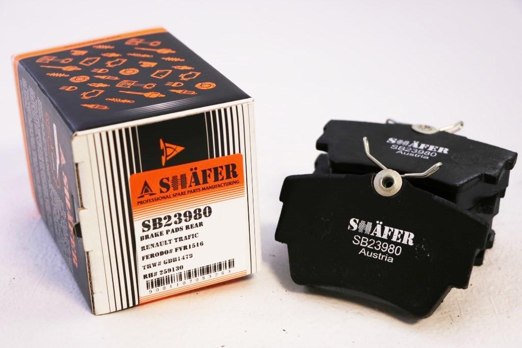 Колодки задние SHAFER SB23980