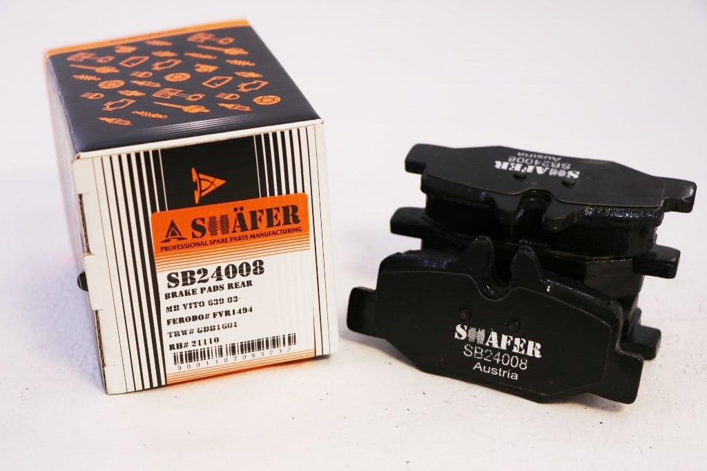 Колодки задние SHAFER SB24008