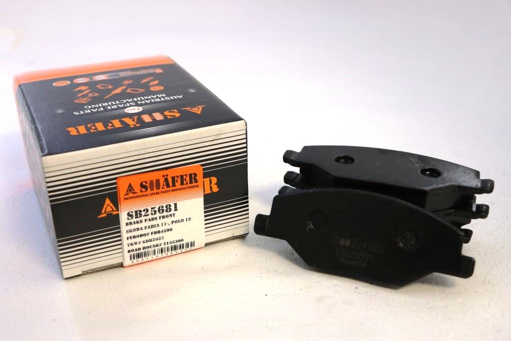 Колодки тормозные передниеSHAFER SB25681
