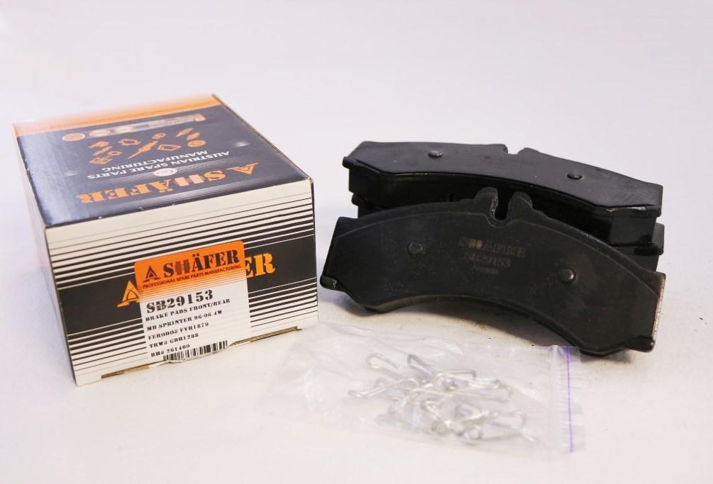 Передние/задние тормозные колодкиSHAFER SB29153