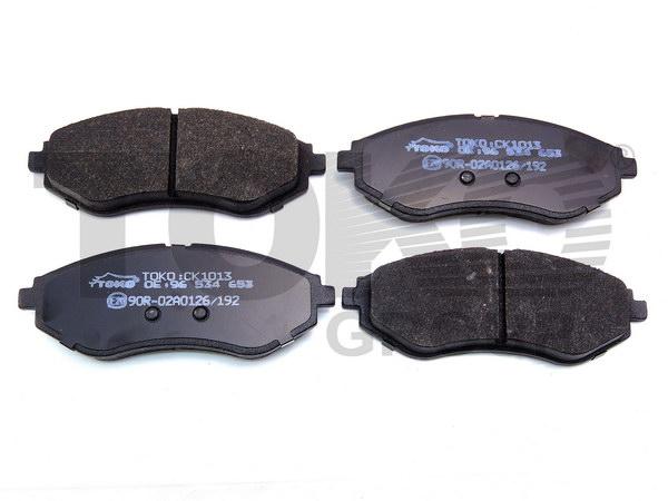 Колодки гальмівні дискові з пластинами, перед. DAEWOO KALOS, AVEO  1.2I,1.4I,1.5I OHC, 1.4 DOHC 02-