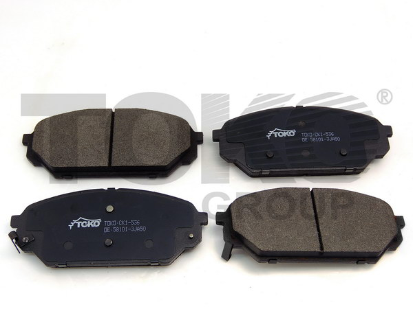 Колодки гальмівні дискові з пластинами, перед. HYUNDAI IX55 3.0CRDI 08.09 ->/ IX55 3.8i 08.09 ->