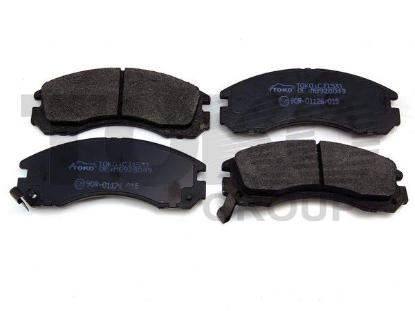 Колодки гальмівні дискові з пластинами, перед. MITSUBISHI PAJERO,SIGMA 91-,3000GT 2WD 3.0I 92-