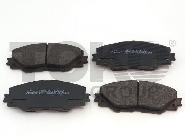 Колодки гальмівні дискові з пластинами, перед. TOYOTA RAV4  2.0,2.2D 06.03-,  AURIS 07-