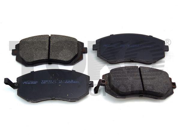 Колодки гальмівні дискові з пластинами, перед. SUBARU LEGACY 4WD 2.0IT 16V,2.5I 16V,3.0I 24V 02.01-, IMPREZA GT 4WD 2.0IT 02.09- (-VDC)