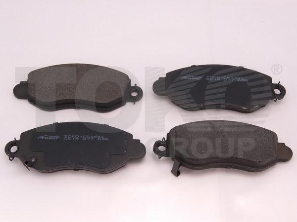 Колодки гальмівні дискові з пластинами, перед. FORD TRANSIT 300,330,350,425  2.0DI/TDCI,2.3I 16V,2.4DI/TDE 00.03-
