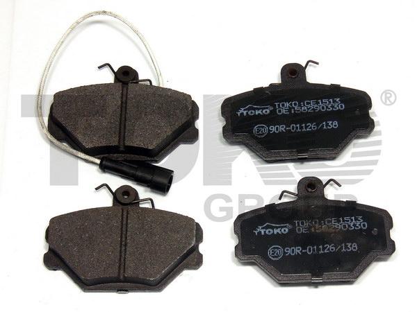 Колодки гальмівні дискові з пластинами, перед. FIAT TEMPRA 1.4IES,1.6IES 90-93