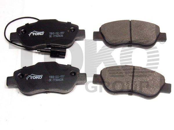 Колодки гальмівні дискові з пластинами, перед. FIAT Fiorino 1.3,1.4 07- DOBLO(119/223) 2005- FIAT 500 2007-