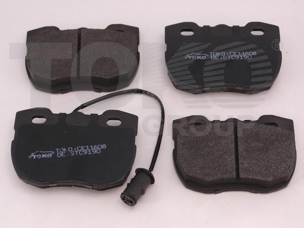 Колодки гальмівні дискові з пластинами, перед. LAND ROVER 90 (16,5MM) 86-90 [DISCOVERY I 1989-1998, RANGE ROVER I 1989-1994]