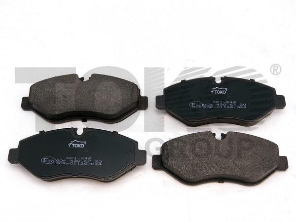Колодки гальмівні дискові з пластинами, перед. MERCEDES VITO (W639) 03- /(VIN 342258-), MERCEDES SPRINTER 224,324(210-218,310-318)CDI  06.06-, VOLKSWAGEN CRAFTER 2.5TDI  04.06-
