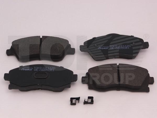 Колодки гальмівні дискові з пластинами, перед. OPEL CORSA C 1.0I 12V-1.8I 16V 00.09-01.12