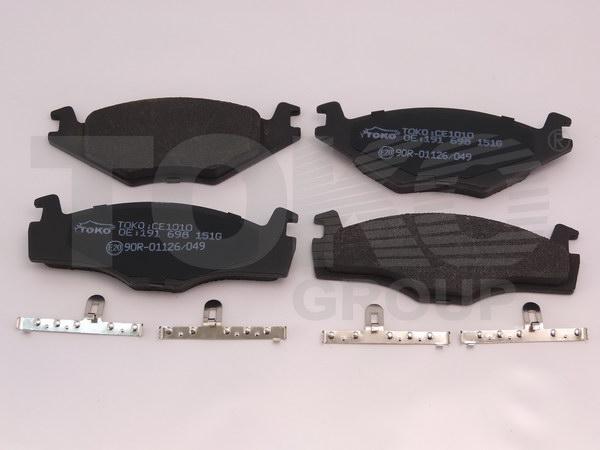 Колодки гальмівні дискові з пластинами, перед. VOLKSWAGEN GOLF I,II,JETTA I,II 81-,PASSAT 1.9,2.0 81-88