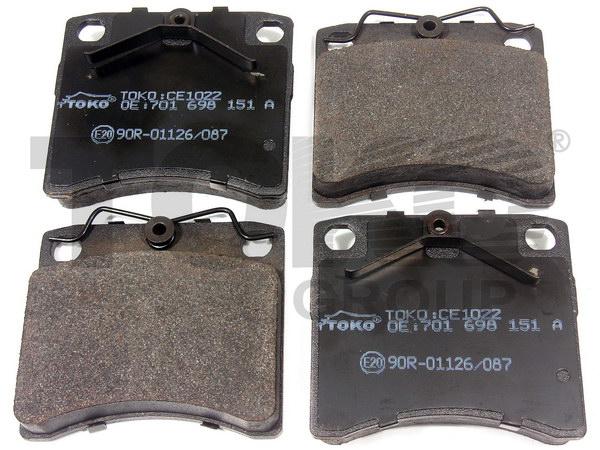Колодки гальмівні дискові з пластинами, перед. VOLKSWAGEN TRANSPORTER 1.8,1.9D/TD/TDI,2.0,2.4D,2.5TD/TDI,2.8 90-98