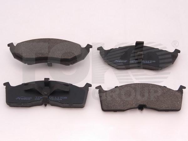Колодки гальмівні дискові з пластинами, перед. CHRYSLER VOYAGER 2.4, 3.3 95.01-01.03,  NEON 94-99