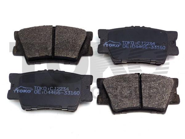 Колодки гальмівні дискові з пластинами, зад. TOYOTA CAMRY V40/V50 2006-,  AVALON 2008- LEXUS ES350  06.03-