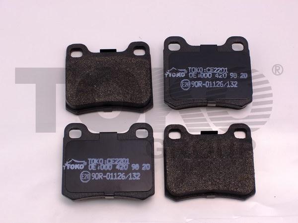 Колодки гальмівні дискові з пластинами, зад. MERCEDES W201,W124 E2.3,2.5 16V /260E 4MATIC,300/300D,TD